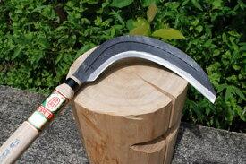 【ナギ型造林鎌】片刃左 420g 柄サック付