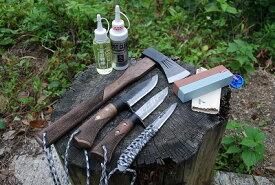 【セット商品】アウトドアナイフ シースナイフ 剣鉈 和斧 刃物椿油 ラストクリーン バーディーセーム 両面鎌砥石 キャンプ 和式刃物