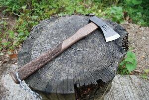 土州薪割斧 和斧 700g 全鋼 樫柄チェッカー キャンプ 焚火 ブッシュクラフト