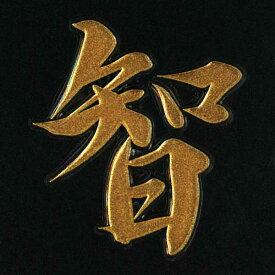 漢字 蒔絵シール 【智 金】カッコいい iQOS アイコス ケータイ スマホ iPhone デコ ステッカー ワンポイント シール 和柄 お名前 ネーム お祝い