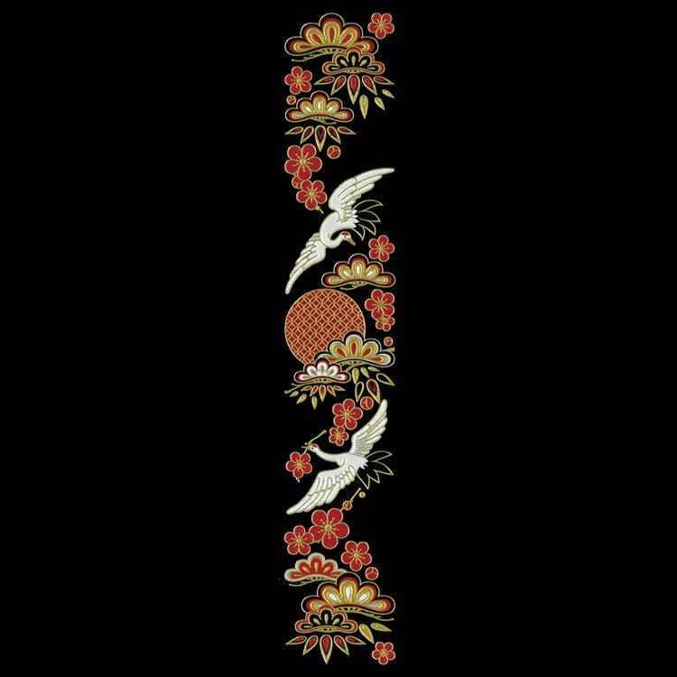 蒔絵シール【舞妓はんの華かんざし 1月(松竹梅)】ケータイ スマホ iPhone カバー デコ ステッカー シール 鶴 梅 七宝 簪 縁起物