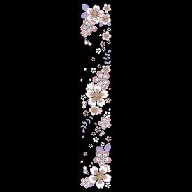 蒔絵シール【舞妓はんの華かんざし 4月(桜)】ケータイ スマホ iPhone カバー デコ ステッカー シール さくら サクラ 簪