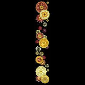 蒔絵シール【舞妓はんの華かんざし 10月(菊)】ケータイ スマホ iPhone カバー デコ ステッカー シール きく キク