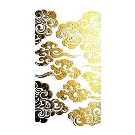 蒔絵シール【SMAPHO TRIBE スマホ トライブ 雲紋/金】ケータイ スマホ iPhone カバー デコレーション ステッカー シール