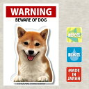 【屋外用ステッカー 柴犬 赤毛】ステッカー ドッグ 車 バイク スーツケース シール セキュリティー car dog WARNIN…