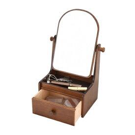 日本製 木製ミニドレッサー姫鏡台