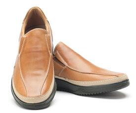 ボブソン 靴 本革 レザー カジュアルシューズ ウォーキング スニーカー スリッポン 軽量 3E メンズ 紳士 BOBSON 5423 ブラウン