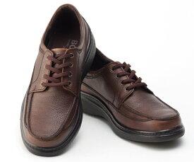 ボブソン 靴 本革 レザー カジュアルシューズ ウォーキング スニーカー 軽量 3E メンズ 紳士 BOBSON 5207 ダークブラウン