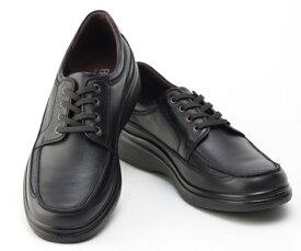 ボブソン 靴 本革 レザー カジュアルシューズ ウォーキング スニーカー 軽量 3E メンズ 紳士 BOBSON 5207 ブラック