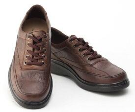 ボブソン 靴 本革 レザー カジュアルシューズ ウォーキング スニーカー 軽量 3E メンズ 紳士 BOBSON 5203 ダークブラウン