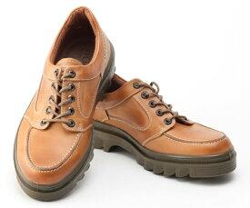 ボブソン 靴 本革 レザー カジュアルシューズ ウォーキング スニーカー 軽量 3E メンズ 紳士 BOBSON 4327 キャメル