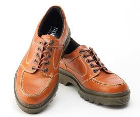 ボブソン 靴 本革 レザー カジュアルシューズ ウォーキング スニーカー 軽量 3E メンズ 紳士 BOBSON 4327 ブラウン