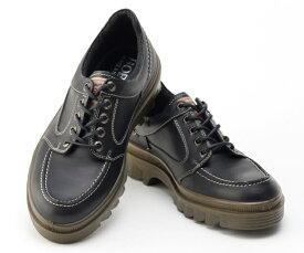 ボブソン 靴 本革 レザー カジュアルシューズ ウォーキング スニーカー 軽量 3E メンズ 紳士 BOBSON 4327 ブラック