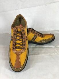 ボブソン 靴 本革 カジュアルシューズ ウォーキング 軽量 3E メンズ 紳士 BOBSON 7623 イエロー