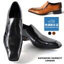 キャサリンハムネットロンドン 靴 本革 ビジネスシューズ スリッポン KATHARINE HAMNETT LONDON 31500