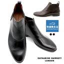 キャサリンハムネットロンドン 靴 本革 ビジネスシューズ サイドゴア ブーツ メンズ KATHARINE HAMNETT LONDON 31614