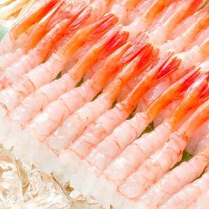 送料無料 甘海老 50尾 殻むき甘海老 寿司ネタ用の尾付き甘海老 殻むき済みなので、解凍して寿司しゃりにのせるだけで甘海老お寿司が完成【甘海老 あまエビ 甘えび 甘エビ あまえび アマエ