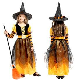 ハロウィン衣装 子供 魔女 巫女 ウィッチ コスプレ 悪魔 ワンピース 帽子付き コスチューム 女の子 衣装 子供服 万聖節 イベント ハロウィン仮装 女の子 魔法 巫女 デビル かぼちゃ ハロウィーン110cm-140cm