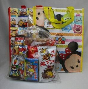 【キャラクターいろいろ】子供会向き駄菓子詰め合わせセットキャラ色々手提げバッグ入りお菓子セット #540