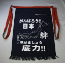 【宝作堂】昭和レトロな酒屋の前掛け帆前掛け がんばろう日本柄