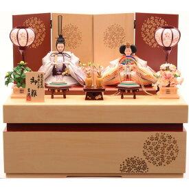 収納親王飾り「花てまり木目調」【送料無料】