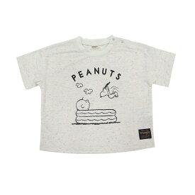 ベビーザらス限定 SNOOPY×WRANGLER ネップ 半袖Tシャツ (オフホワイト×100cm)