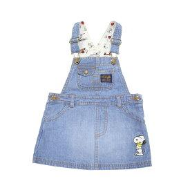 ベビーザらス限定 SNOOPY×WRANGLER デニム ジャンパースカート (ブルー×95cm)