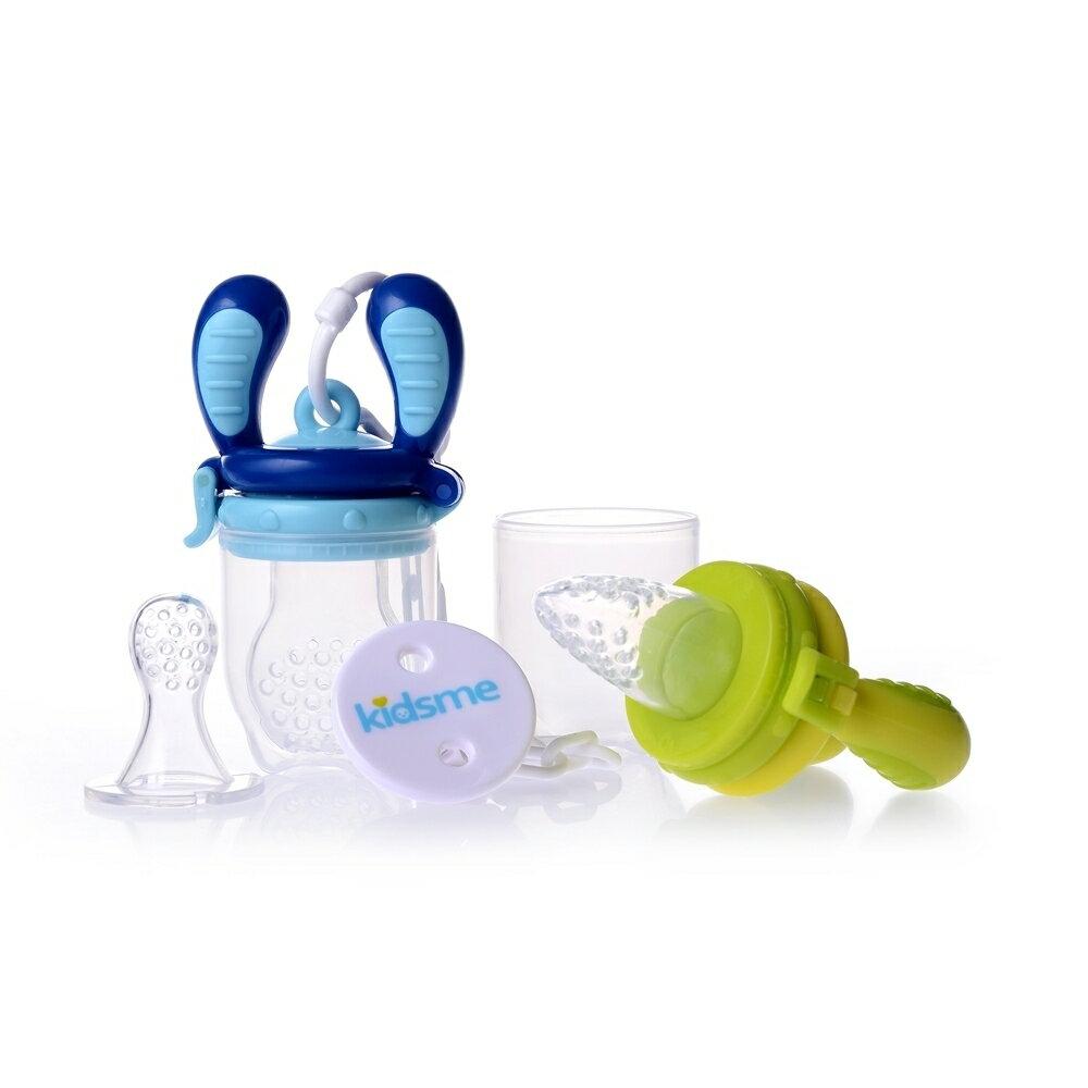 4ヵ月からの離乳食フィーダー モグフィステップアップセット(ライム/アクア)【オンライン限定】