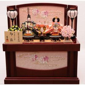 【雛人形】ベビーザらス限定 収納親王飾り「流水桜刺繍ワイン塗」【送料無料】