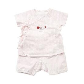 【愛情設計】ベビースーツ☆低刺激素材(ピンク・50〜70cm)夏用★日本製★