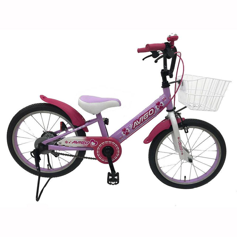 トイザらス AVIGO 18インチ 子供用自転車 アルバニー スタンド(ペール パープル)
