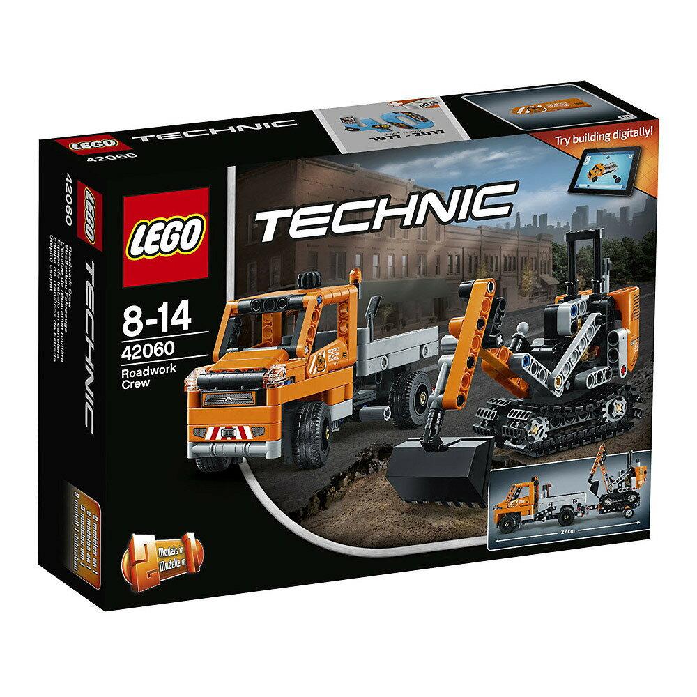 レゴ テクニック 42060 道路工事トラック & ショベルカー