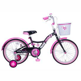 18インチ 子供用自転車 ハードキャンディ スパイスガール(ブラック)