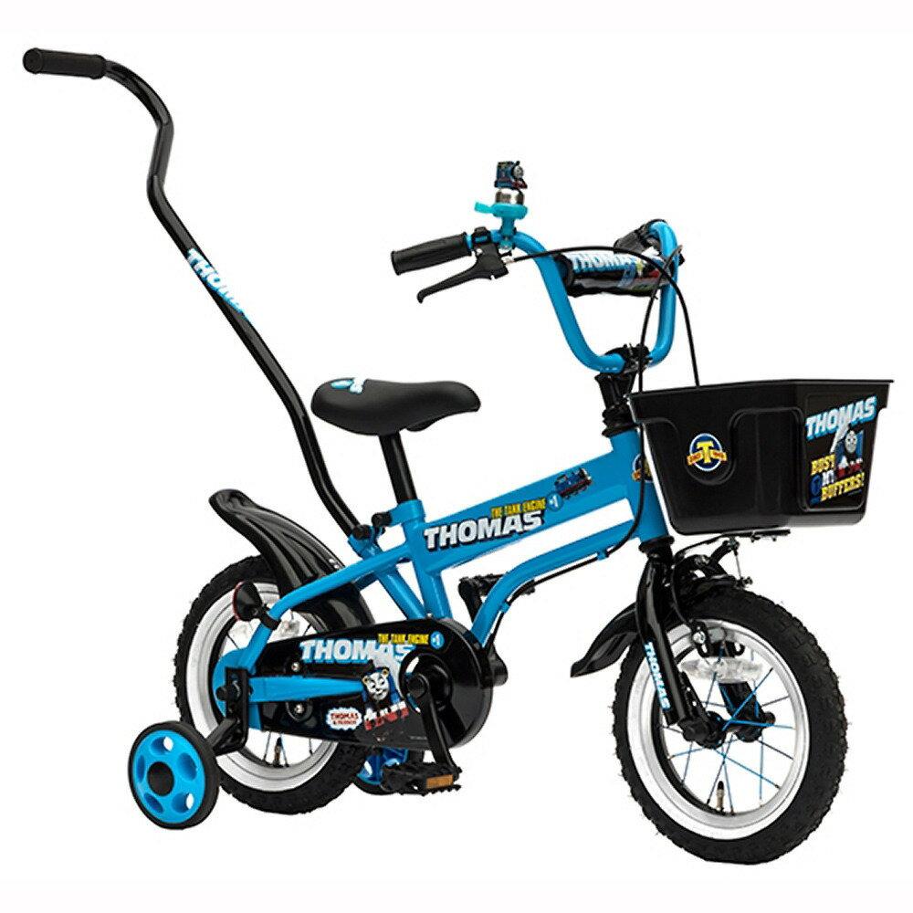 トイザらス限定 12インチ 子供用自転車 きかんしゃトーマス ブルー 押し手棒付き