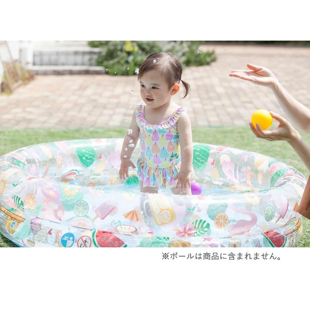 ファンシースターズプール 122×25cm【ビニールプール】
