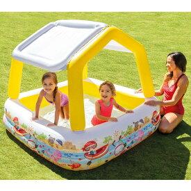 INTEX サンシェードプール 157×157x122cm【ビニールプール】