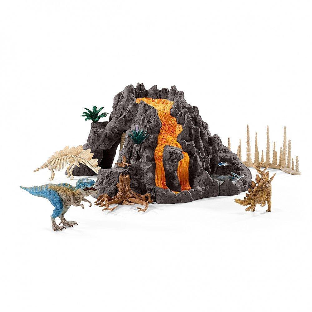 Schleich シュライヒ 大火山とティラノサウルス恐竜ビッグセット【送料無料】