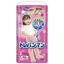 【トレーニングパンツ】トレパンマン 女の子用Lサイズ (9〜14kg) 36枚