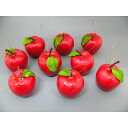 【クリスマス】5cmリンゴ9個入り レッド