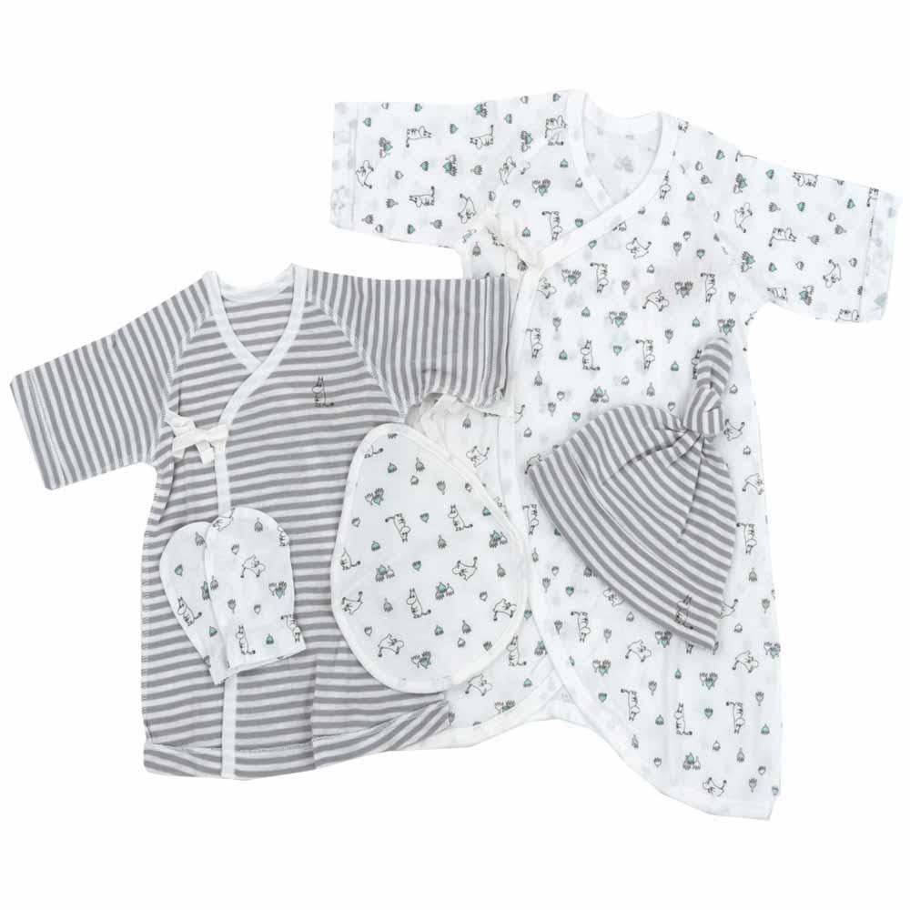 ベビーザらス限定 MOOMIN 新生児肌着5点セット ムーミン 50-60cm ホワイト