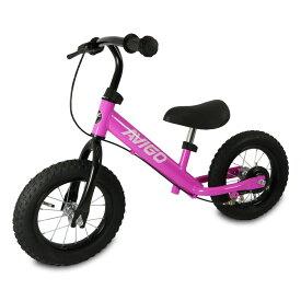 トイザらス限定 12インチ エアタイヤトレーニングバイク ハンドブレーキ付き仕様 (ピンク)