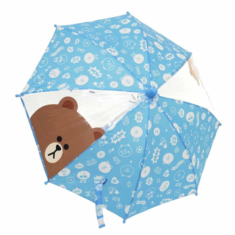 ブラウン 傘(ブルー×40cm)
