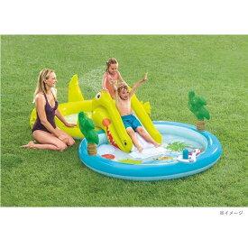 トイザらス限定 INTEX ワニのすべり台つきプール 175×323cm 【ビニールプール】【すべり台付きプール】