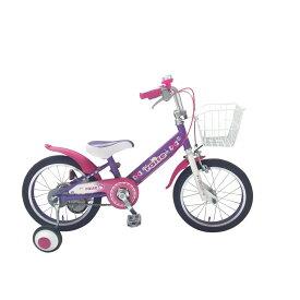 トイザらス限定 16インチ 子供用自転車 RAISE アルバニー(ピンク/パープル)