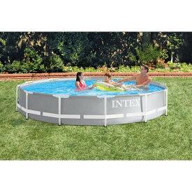INTEX プリズム フレームプール 366×366×76cm 【ビニールプール】 【大型プール】【送料無料】