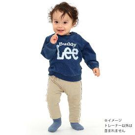846c564e5cd7a ベビーザらス限定 Buddy Lee 長袖トレーナー インディゴ染め ロゴプリント(ブルー×70cm