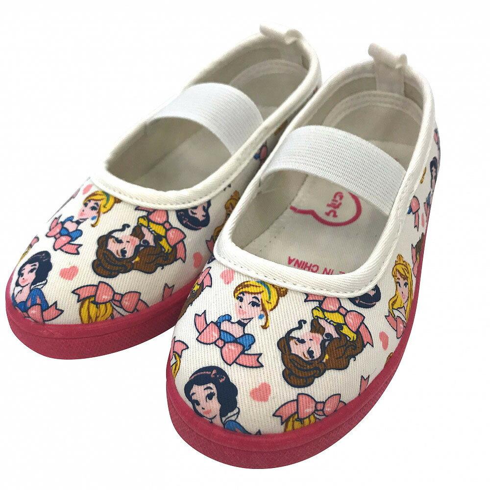 ディズニー プリンセス 総柄 上履き 上靴 バレエシューズ(ピンク×18.0cm)