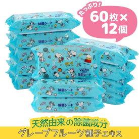 ベビーザらス限定 ウルトラプラス スヌーピー除菌シート60枚×12個 ノンアルコール