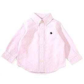 ベビーザらス限定 POLO 長袖オックスシャツ(ピンク×80-90cm)