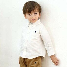 ベビーザらス限定 POLO 長袖オックスシャツ(ホワイト×80-90cm)